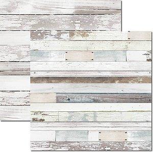 Papel Para Scrapbook Dupla Face 30,5x30,5 cm Arte Fácil - SC-508 - Textura Madeira 1