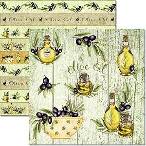 Papel Para Scrapbook Dupla Face 30,5x30,5 cm Arte Fácil - SC-543 - Olive 2