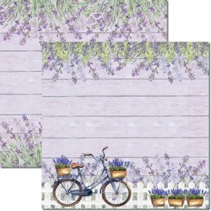Papel Para Scrapbook Dupla Face 30,5x30,5 cm Arte Fácil - SC-546 - Provence 7
