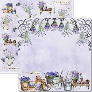 Papel Para Scrapbook Dupla Face 30,5x30,5 cm Arte Fácil - SC-547 - Provence 8