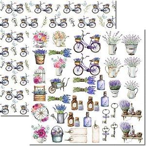 Papel Para Scrapbook Dupla Face 30,5x30,5 cm Arte Fácil - SC-548 - Provence 9