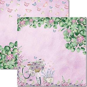 Papel Para Scrapbook Dupla Face 30,5x30,5 cm Arte Fácil - SC-567 - Butterfly 7