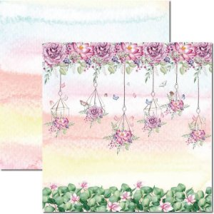 Papel Para Scrapbook Dupla Face 30,5x30,5 cm Arte Fácil - SC-568 - Butterfly 8