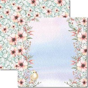 Papel Para Scrapbook Dupla Face 30,5x30,5 cm Arte Fácil - SC-572 - Passarinhos 8