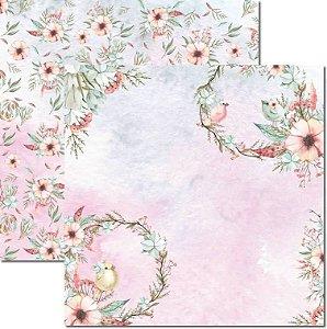 Papel Para Scrapbook Dupla Face 30,5x30,5 cm Arte Fácil - SC-573 - Passarinhos 9