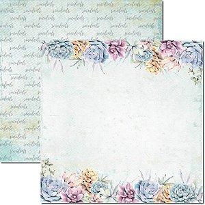 Papel Para Scrapbook Dupla Face 30,5x30,5 cm Arte Fácil - SC-576 - Suculentas 6