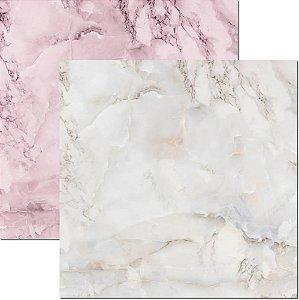 Papel Para Scrapbook Dupla Face 30,5x30,5 cm Arte Fácil - SC-581 - Textura-Marmore 1