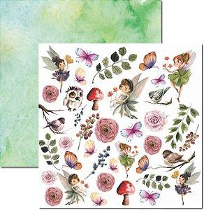Papel Para Scrapbook Dupla Face 30,5x30,5 cm Arte Fácil - SC-588 - Jessy 5