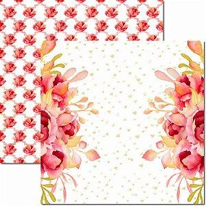 Papel Para Scrapbook Dupla Face 30,5x30,5 cm Arte Fácil - SC-595 - Sweet 2