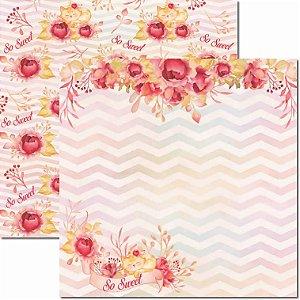 Papel Para Scrapbook Dupla Face 30,5x30,5 cm Arte Fácil - SC-596 - Sweet 3