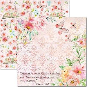 Papel Para Scrapbook Dupla Face 30,5x30,5 cm Arte Fácil - SC-623 - Rhema 2