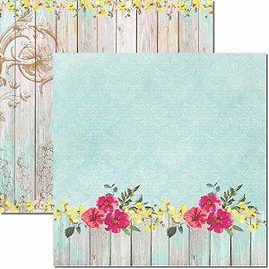 Papel Para Scrapbook Dupla Face 30,5x30,5 cm Arte Fácil - SC-413 - Primavera 5