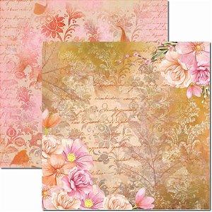 Papel Para Scrapbook Dupla Face 30,5x30,5 cm Arte Fácil - SC-412 - Primavera 4
