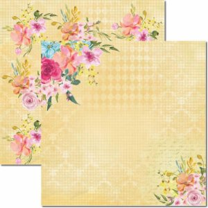 Papel Para Scrapbook Dupla Face 30,5x30,5 cm Arte Fácil - SC-411 - Primavera 3