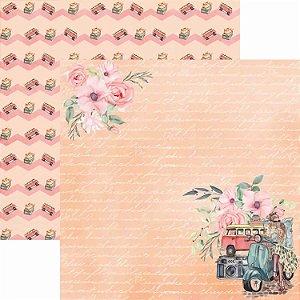 Papel Para Scrapbook Dupla Face 30,5x30,5 cm Arte Fácil - SC-409 - Pé na Estrada 2