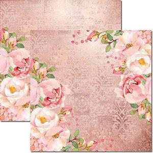 Papel Para Scrapbook Dupla Face 30,5x30,5 cm Arte Fácil - SC-553 - Chanel 10