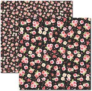 Papel Para Scrapbook Dupla Face 30,5x30,5 cm Arte Fácil - SC-393 - Aquarela 4