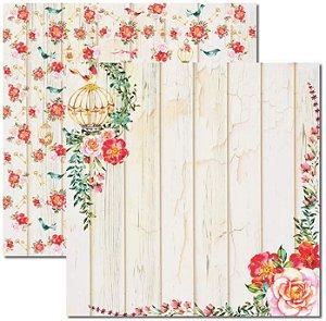 Papel Para Scrapbook Dupla Face 30,5x30,5 cm Arte Fácil - SC-392 - Aquarela 3