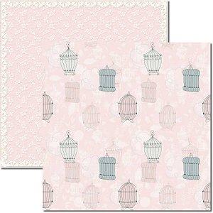 Papel Para Scrapbook Dupla Face 30,5x30,5 cm Arte Fácil - SC-388 - Provence 3