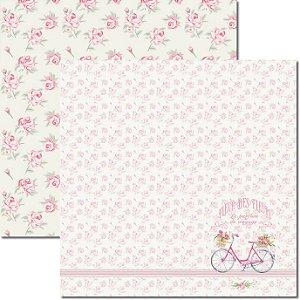 Papel Para Scrapbook Dupla Face 30,5x30,5 cm Arte Fácil - SC-386 - Provence 1