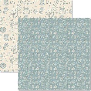 Papel Para Scrapbook Dupla Face 30,5x30,5 cm Arte Fácil - SC-385 - Costura 4