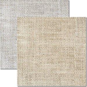 Papel Para Scrapbook Dupla Face 30,5x30,5 cm Arte Fácil - SC-504 - Textura - Juta