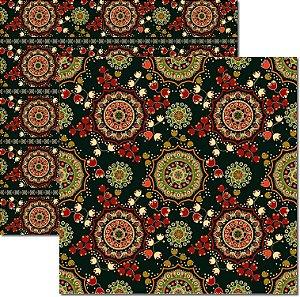 Papel Para Scrapbook Dupla Face 30,5x30,5 cm Arte Fácil - SC-503 - Indian 4