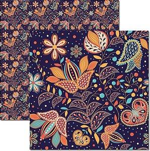 Papel Para Scrapbook Dupla Face 30,5x30,5 cm Arte Fácil - SC-502 - Indian 3