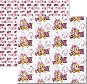 Papel Para Scrapbook Dupla Face 30,5x30,5 cm Arte Fácil - SC-499 - My Baby Girl 4