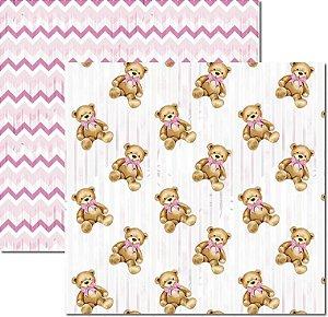 Papel Para Scrapbook Dupla Face 30,5x30,5 cm Arte Fácil - SC-498 - My Baby Girl 3