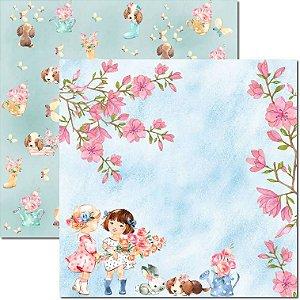 Papel Para Scrapbook Dupla Face 30,5x30,5 cm Arte Fácil - SC-492 - Sweet Girl 3