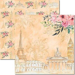 Papel Para Scrapbook Dupla Face 30,5x30,5 cm Arte Fácil - SC-487 - Pé na Estrada 5