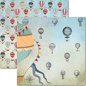 Papel Para Scrapbook Dupla Face 30,5x30,5 cm Arte Fácil - SC-484 - Le Ballon 2
