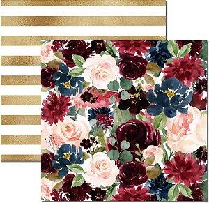 Papel Para Scrapbook Dupla Face 30,5x30,5 cm Arte Fácil - SC-481 - Floral 5