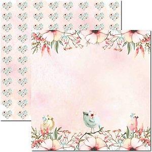 Papel Para Scrapbook Dupla Face 30,5x30,5 cm Arte Fácil - SC-476 - Passarinhos 4