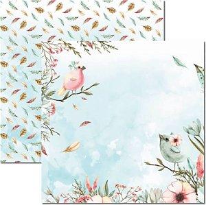 Papel Para Scrapbook Dupla Face 30,5x30,5 cm Arte Fácil - SC-473 - Passarinhos 1
