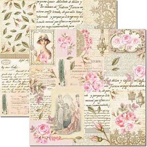 Papel Para Scrapbook Dupla Face 30,5x30,5 cm Arte Fácil - SC-472 - Rose e Mint 6
