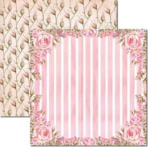 Papel Para Scrapbook Dupla Face 30,5x30,5 cm Arte Fácil - SC-470 - Rose e Mint 4