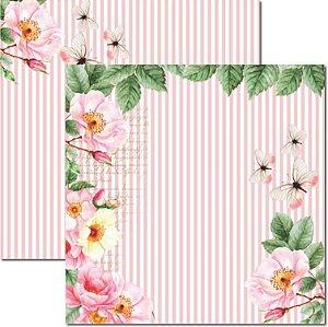 Papel Para Scrapbook Dupla Face 30,5x30,5 cm Arte Fácil - SC-469 - Rose e Mint 3