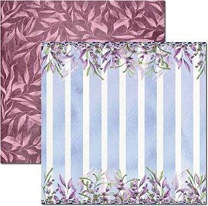 Papel Para Scrapbook Dupla Face 30,5x30,5 cm Arte Fácil - SC-465 - Púrpura 3