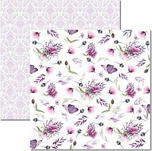 Papel Para Scrapbook Dupla Face 30,5x30,5 cm Arte Fácil - SC-463 - Púrpura 1