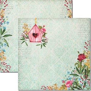Papel Para Scrapbook Dupla Face 30,5x30,5 cm Arte Fácil - SC-460 - Le Jardin 3