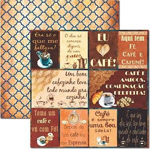 Papel Para Scrapbook Dupla Face 30,5x30,5 cm Arte Fácil - SC-457 - Café 3