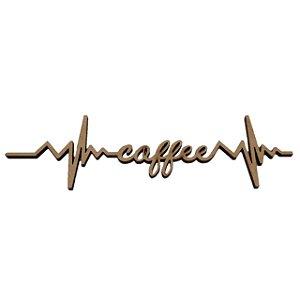 Aplique Laser MDF - Eletrocardiograma coffee - 16cm