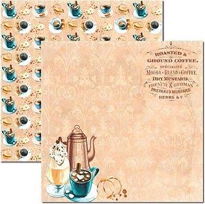 Papel Para Scrapbook Dupla Face 30,5x30,5 cm Arte Fácil - SC-456 - Café 2
