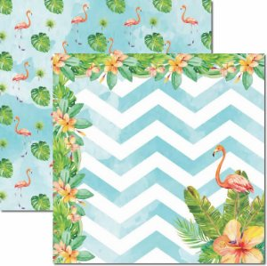 Papel Para Scrapbook Dupla Face 30,5x30,5 cm Arte Fácil - SC-449 - Verão Tropical 3