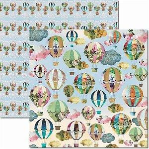 Papel Para Scrapbook Dupla Face 30,5x30,5 cm Arte Fácil - SC-443 - Primavera 8