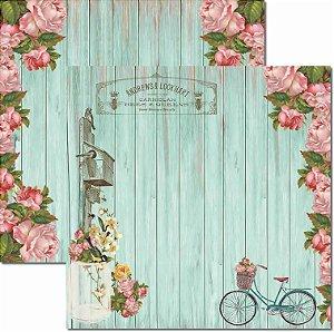 Papel Para Scrapbook Dupla Face 30,5x30,5 cm Arte Fácil - SC-442 - Primavera 7