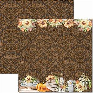 Papel Para Scrapbook Dupla Face 30,5x30,5 cm Arte Fácil - SC-439 - Outono 6