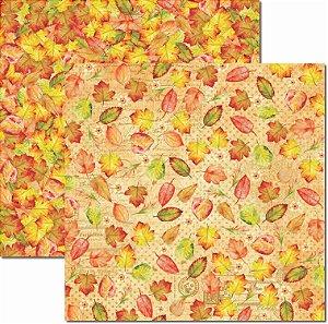 Papel Para Scrapbook Dupla Face 30,5x30,5 cm Arte Fácil - SC-434 - Outono 1